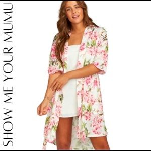 Show Me Your MuMu   white and pink floral robe